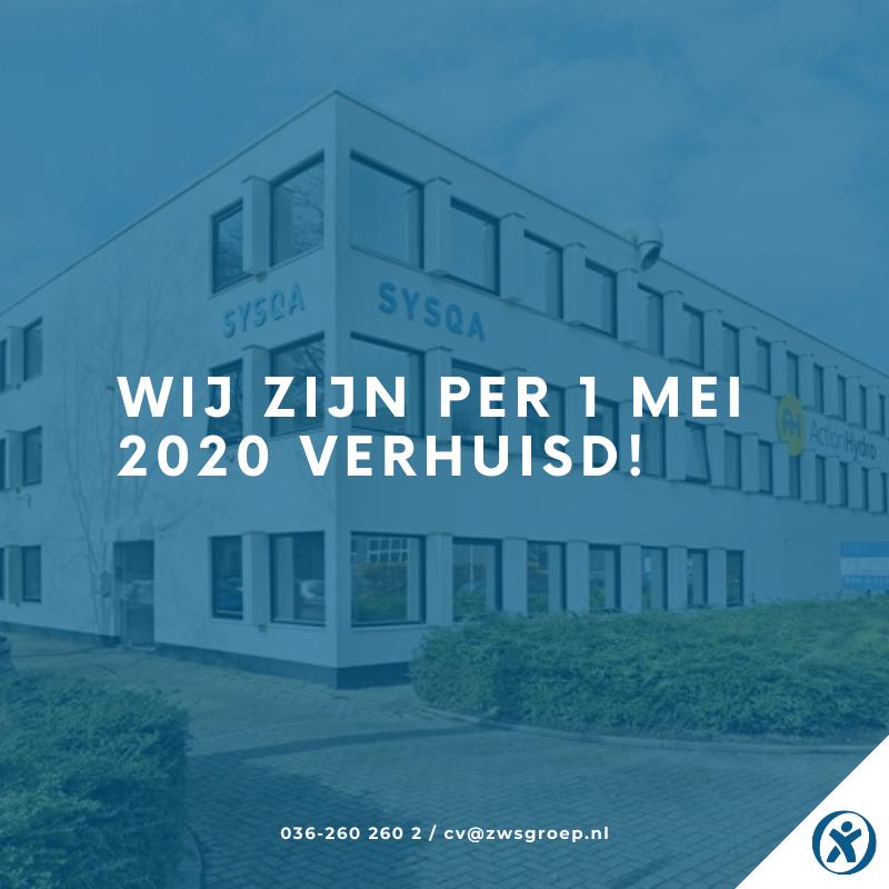 ZWS Recruitment_Wij zijn per 1 mei 2020 verhuisd
